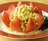 Tomato Star & Corn Salad